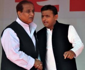 Azam Khan and Akhilesh Yadav