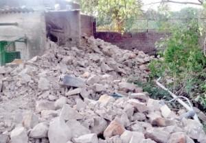 Demolished Eidgah (Photo courtsey: Rashtriya Sahara)