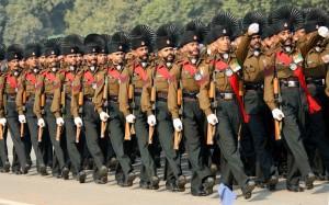 Rajputana Rifles contingent