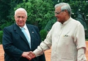 Ariel Sharon and Atal Bihari Vajpayee