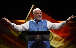 Narendra Modi addressing Indian community in Australia